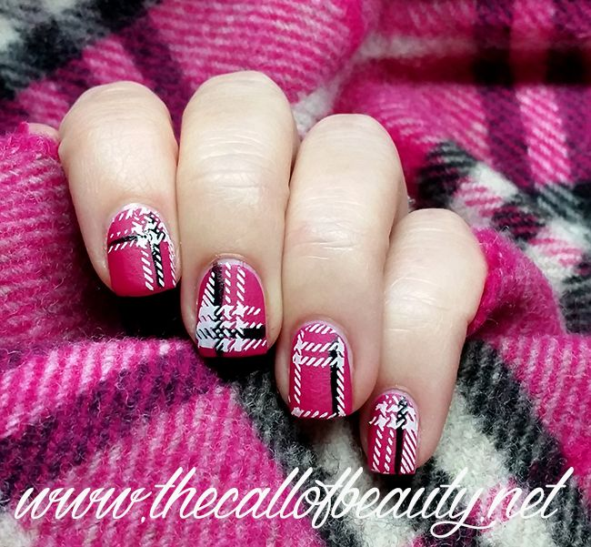 The Call of Beauty: Twinsie Tuesday: Fall to Winter Transitional - Hot Pink Burberry Nails