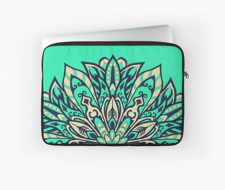 Teal bright Complicated Mandala. Tribal style. by kakapostudio