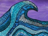 "From exhibit ""The Great Wave - Zentangle Patterns"", grade 4"