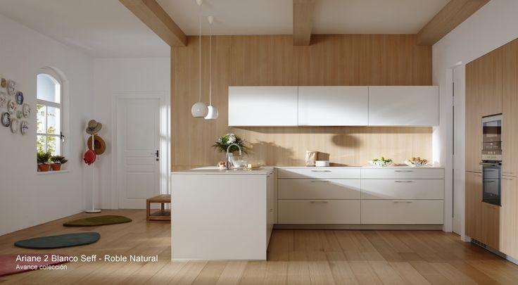 Nuevo modelo de cocinas santos roble natural columnas y - Fotos cocinas santos ...