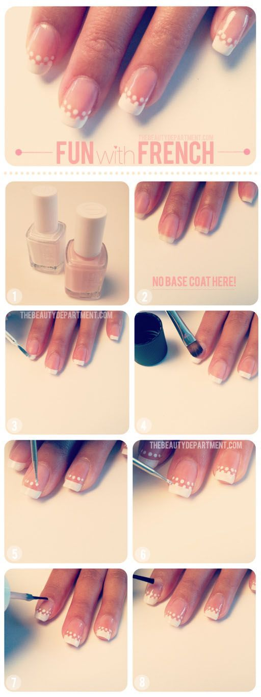 Step by Step Procedure For DIY French Manicure