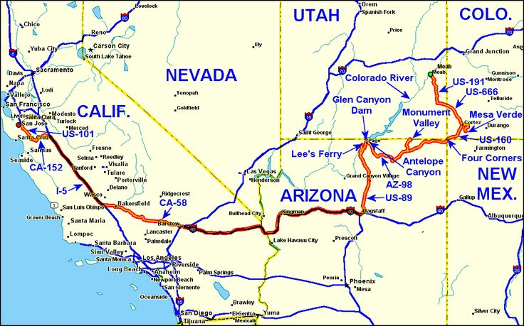 Guide To Driving US Route And A In Arizona And Utah Great - Utah us map