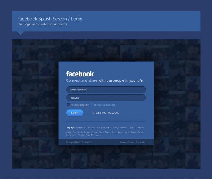 Fred Nerby director de arte interactivo, por el puro placer de hacerlo, ha creado un rediseño de la red social más famosa de todas.