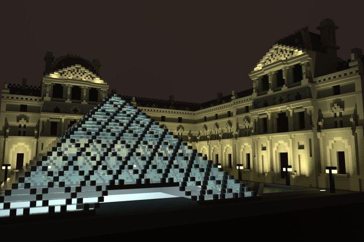 """XavierDeFrutos: RT AtelDsign: More fun with #magicavoxel! Le Louvre, Paris"""