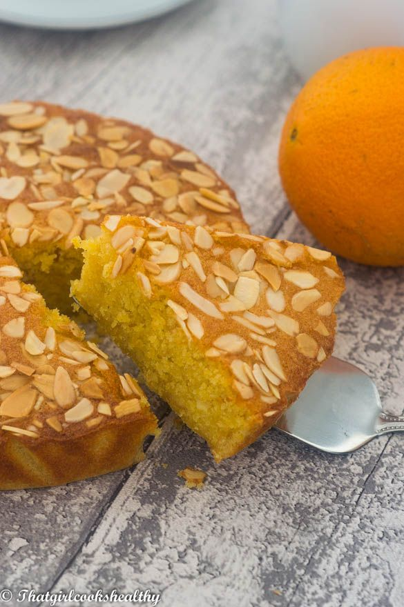 Extra moist flourless orange almond cake with a hint of cornmealLately I've been thinking about making a few cake and pudding recipes and the reason for this is because extra sweet treats are actually my weakness. Yes I'm not afraid to admit that in lack strength in certain aspects of the culina
