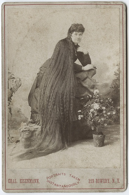 """Original cabinet card portrait by the NY photographer Charles Eisenmann. Eisenmann was well know for his portraits of circus acts """"freaks"""". Found in Indiana."""