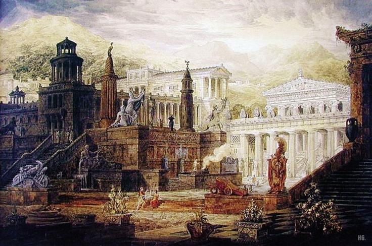 The Reconstruction Of Sparta 1816 Joseph Michael Gandy