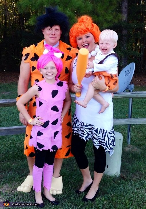 the flintstones 2014 halloween costume contest via costume_works - Halloween Flintstones