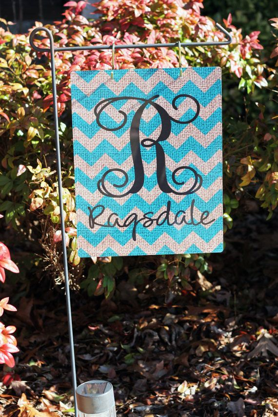 Personalized Metal Garden Flag With 2 S Hooks
