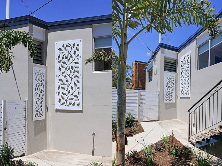 Lasercut decorative screening used for decoration on this house — from kleencut.com.au