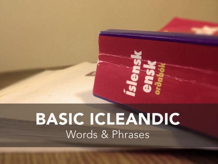 Basic Icelandic Words & Phrases - Unlocking Kiki