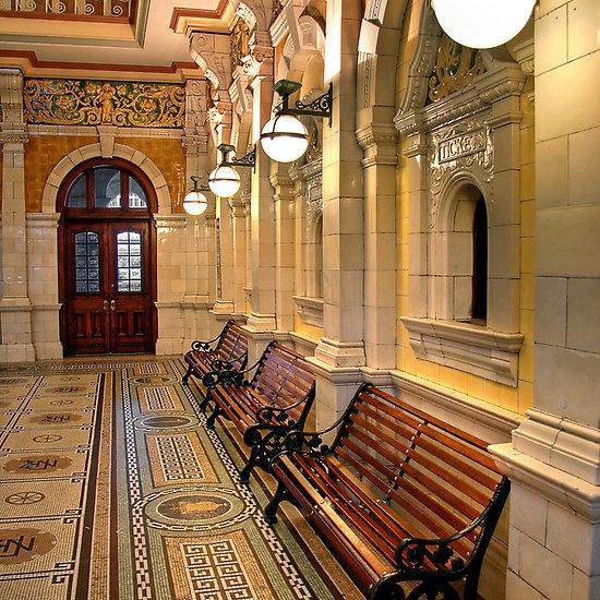 Inside Dunedin Railway Station