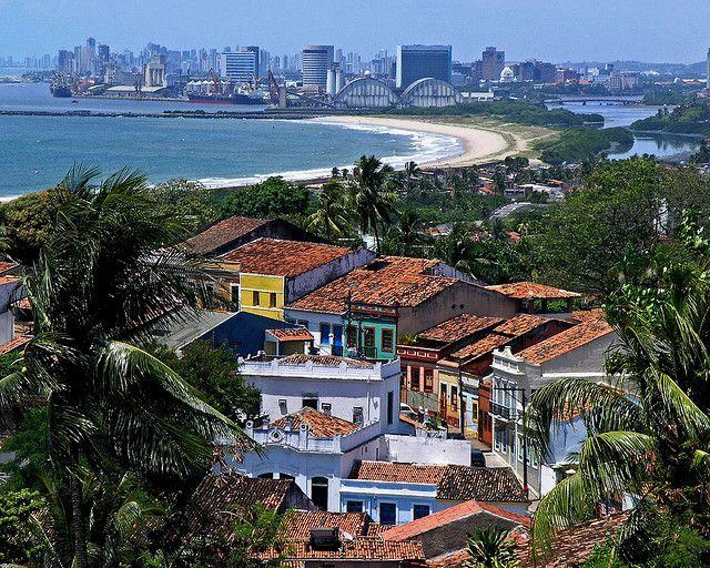 Vista de recife em Olinda.