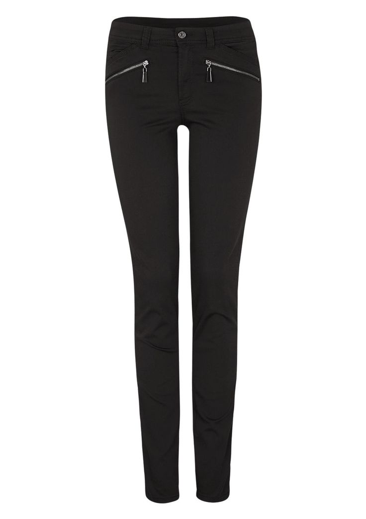 Slim: Stretch-Hose mit Zipp-Details von s.Oliver. Entdecken Sie jetzt topaktuelle Mode für Damen, Herren und Kinder und bestellen Sie online.
