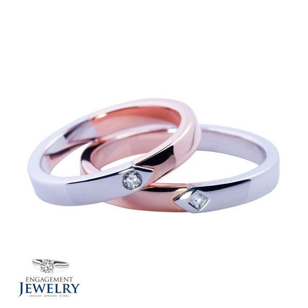 Set verighete cu diamant PAL-VEG-003  Set verighete cu Diamant(5.80g 5.20g)