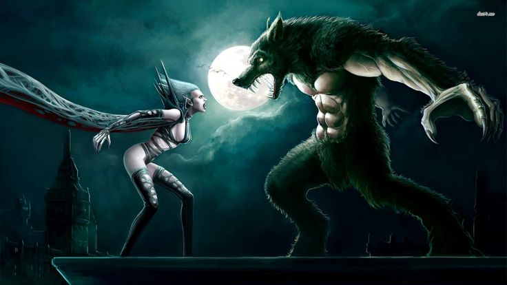 Vampire vs werewolf wallpaper fantasy wallpapers male