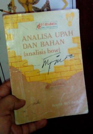 Analisa upah dan bahan (bow) buku antik 1983