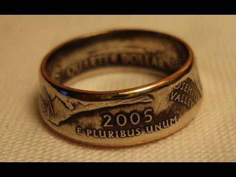 Making Double Sided Coin Rings, Smaller Womens Size I shall make the One Ring to rule them all.