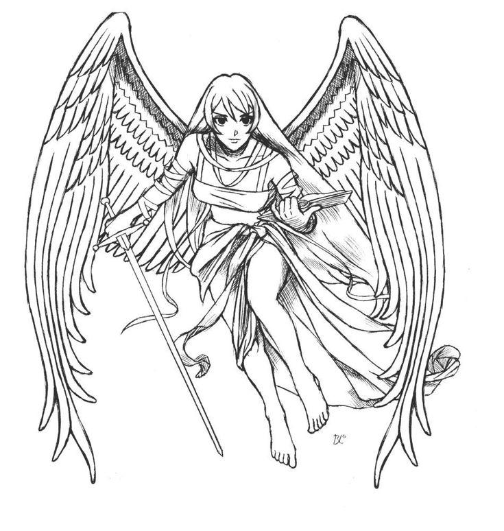 Ausmalbilder Fabelwesen Fantasie Engel Angel Engel Fantasy Malvorlage Kinder Bilder Download Ma Angel Coloring Pages Black And White Drawing Coloring Pages