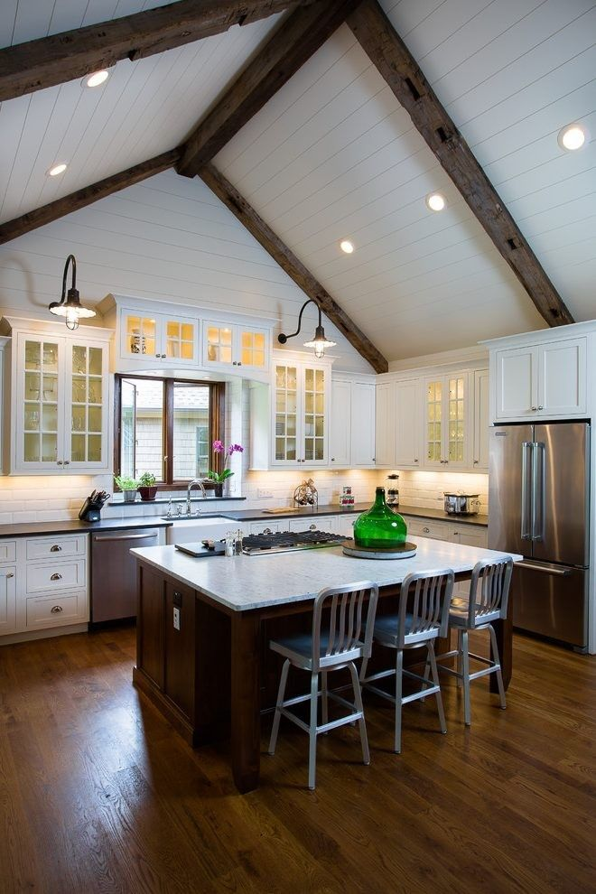 Pin by Ginnell Consulting on Farmhouse in 2020 | Vaulted ... on Rustic:1Gdhjdx6F3G= Farmhouse Kitchen  id=93014
