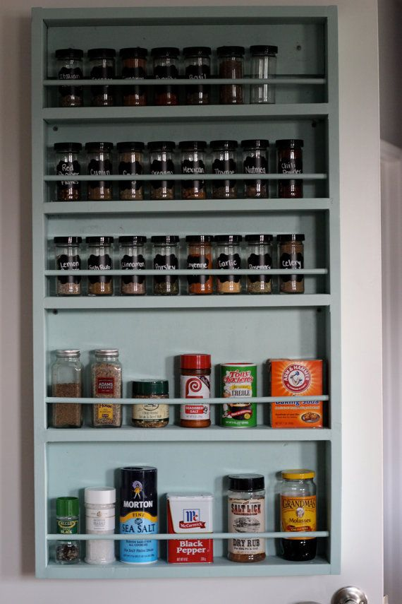 Pantry Door Mounted Spice Rack | Add it to your favorites to revisit it later.