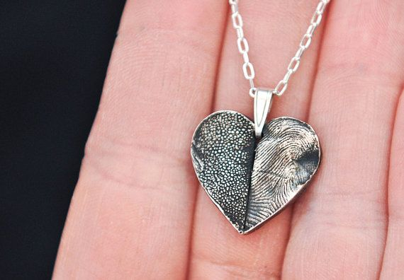 Silver Jewelry - Pet and owner's print necklace.  Gorgeous!