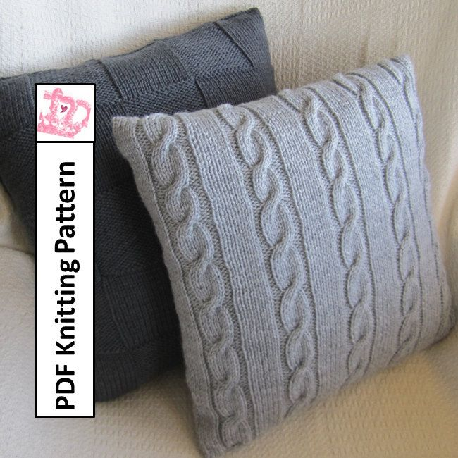 The 66 best images about Pillow Cover Knitting Patterns on Pinterest Knit p...