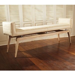 Quilted City Bench in Ivory NEW