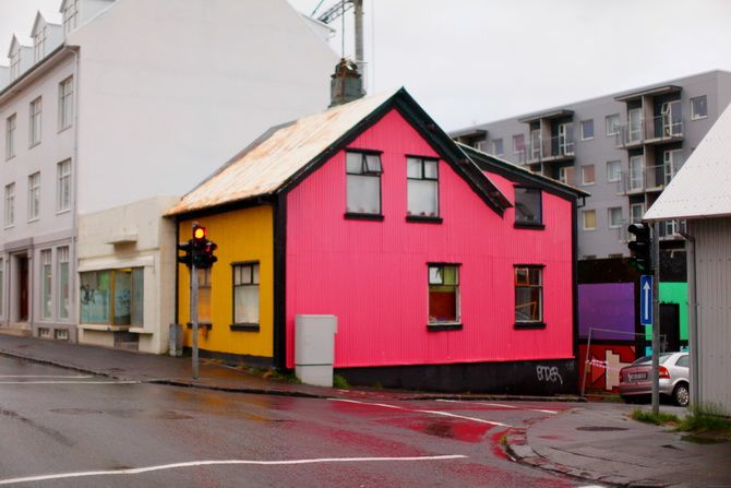 I am totally going to paint my house crazy colors like this when I grow up. Because I will never grow up :P.