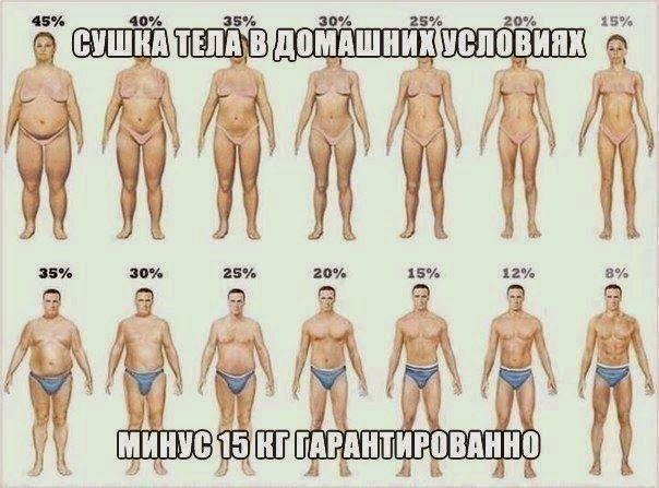 Как похудеть эффективно.: СУШКА ТЕЛА В ДОМАШНИХ УСЛОВИЯХ Минус 15 кг!гарантированно