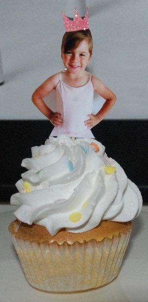 Ballerina themed birthday photo cupcake toppers by CakeFaceToppers, $20.00