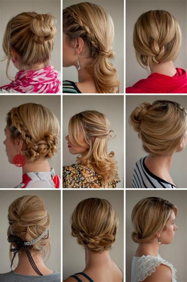 some nice updo styles and I love these highlights :)