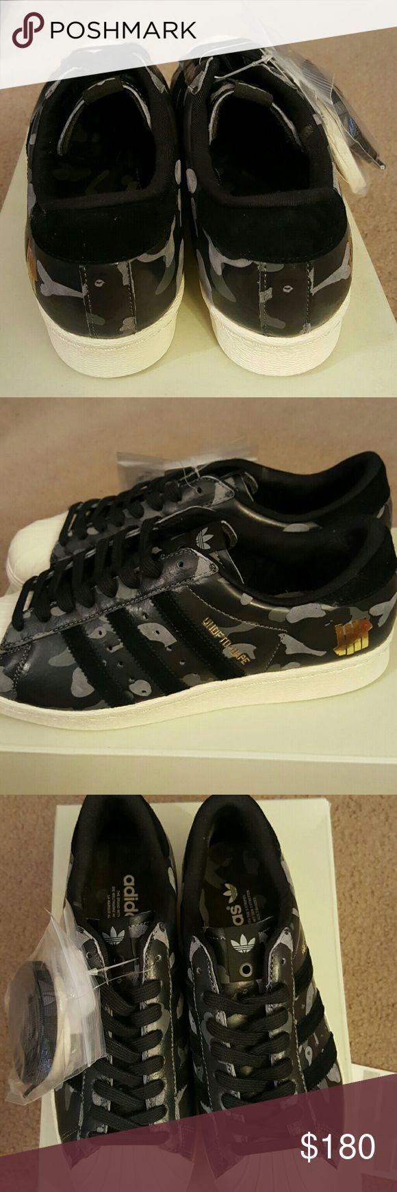 Men's Adidas Superstar Brand new Men's Adidas Superstar 80V UNDFTD-BAPE Black Camo, Limited edition Adidas  Shoes Athletic Shoes