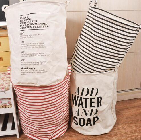 2016 Unieke Opvouwbaar Katoen Linnen Kleren Wassen Wasmand Bag Hinderen Storage in  van opslag manden op AliExpress.com | Alibaba Groep