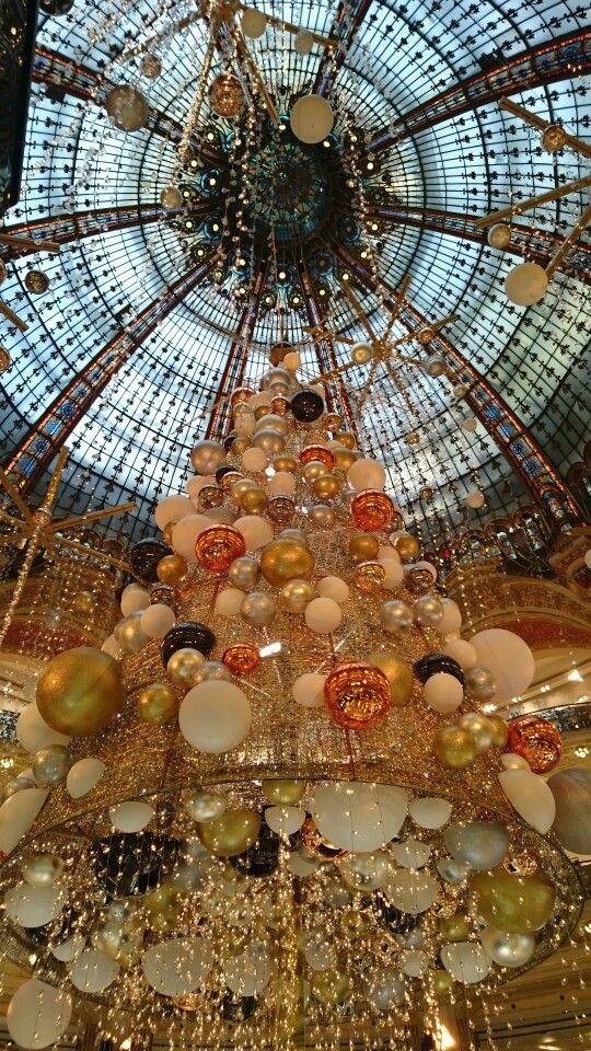 Sapin galeries lafayette Noël 2015