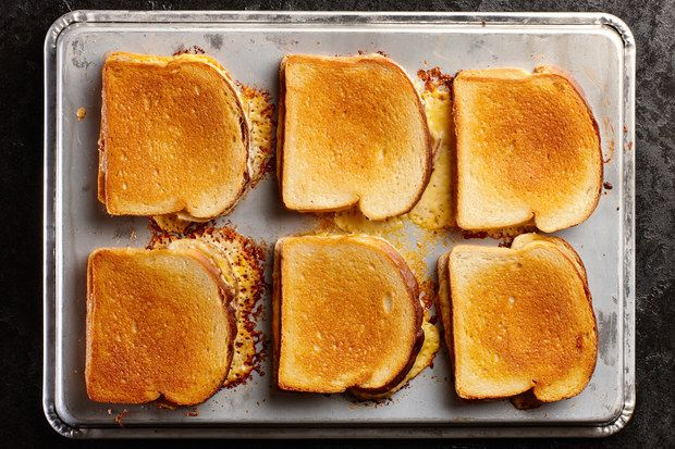 Make 6 grilled cheese sandwiches at once in 15 minutes with no flipping!