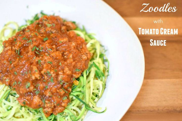 Re-energize your pasta with the perfect healthy swap! Try this delicious recipe: Zoodles with Tomato Cream Sauce! via My Pretty Brown Fit