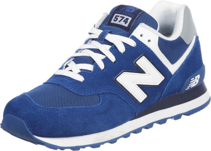 Chaussures New Balance ML574 Pour Homme - coloris: bleu/blanc