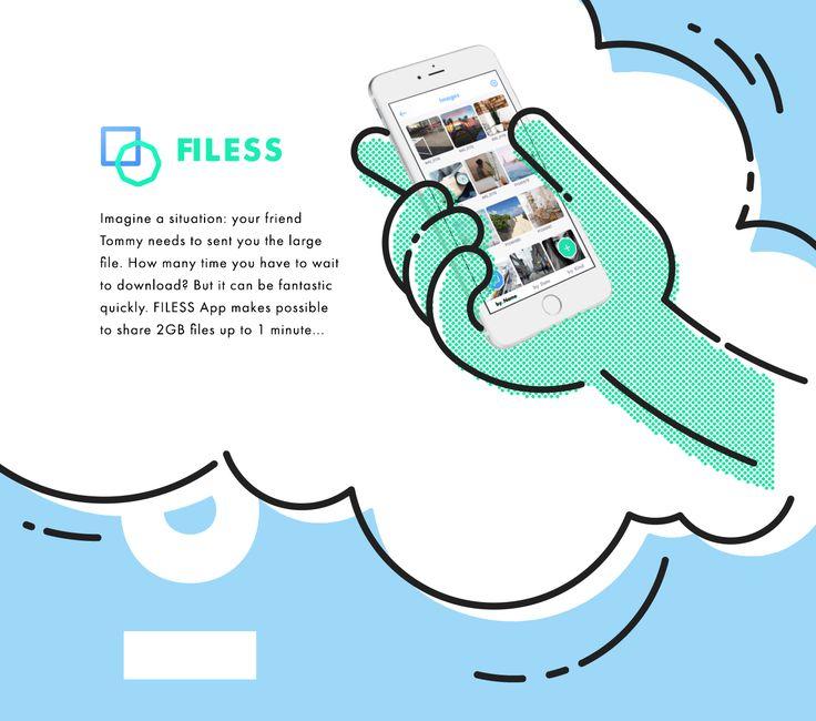 FILESS App Interface Design on Behance