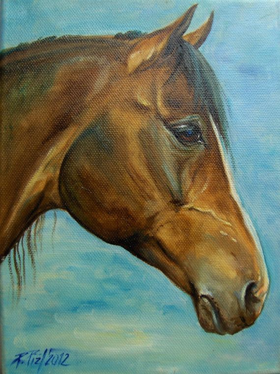 HORSE PORTRAIT,  Pet portrait portraits from photos, Original oil PAINTING, Hand…