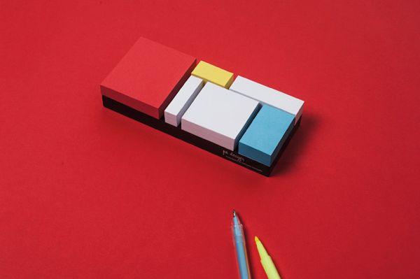 これは置いておきたい!オシャレ過ぎるモダンな付箋 – Mondrian Sticky Notes | STYLE4 Design