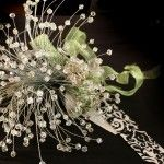Sparkly crystal bouquets . . . not for my wedding, but for my vases in our place