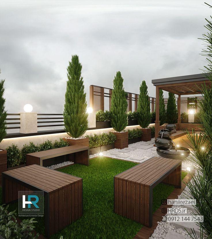 طراحی پشت بام ساختمان مسکونی با توجه به نیازهای کارفرما و