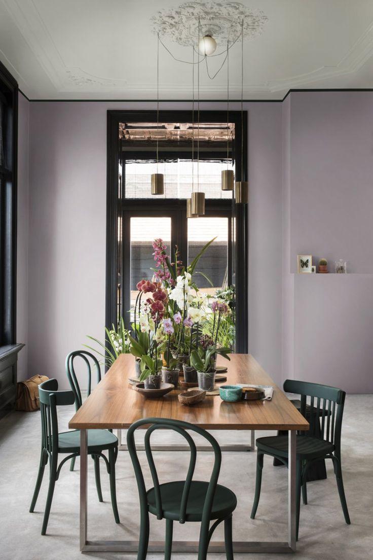 17 id es propos de salles manger violet sur pinterest murs prune coul - Salle a manger couleur ...
