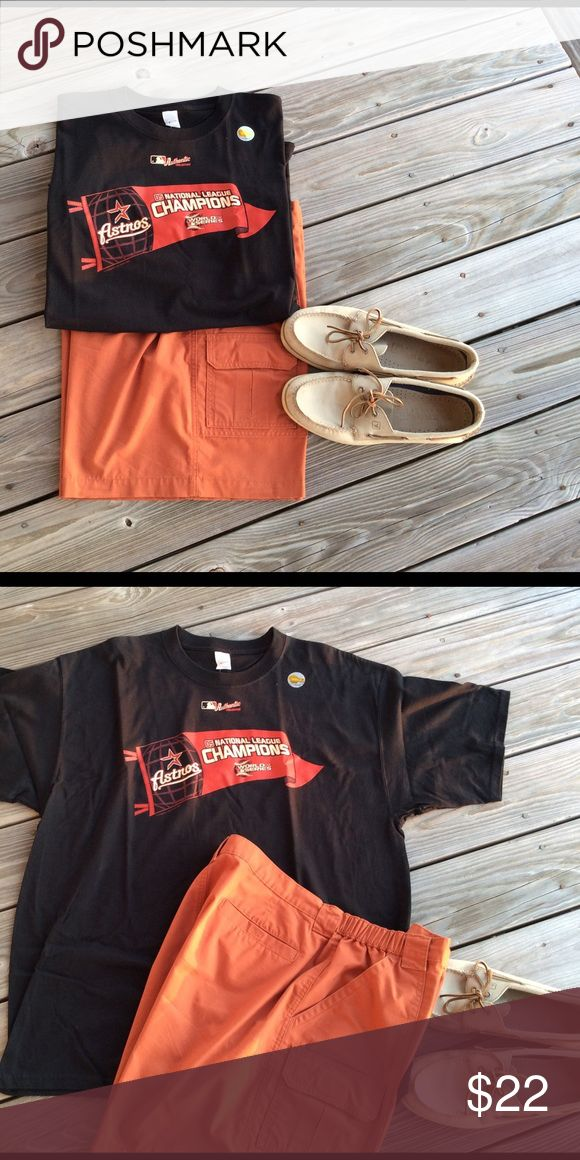Astros 2005 National League Champions T-Shirt ⚾️⚾️ Authentic Houston Astros 2005 Nation League Champions World Series Shirt unmarked Shirts Tees - Short Sleeve