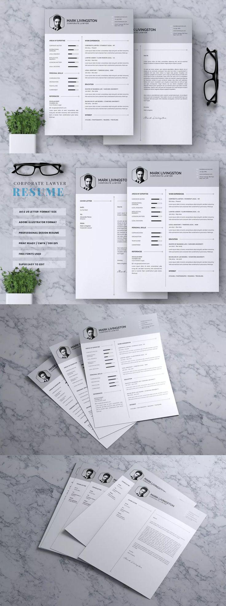 Corporate lawyer cv resume by rahardicreative on cv