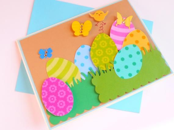 easter egg Make Your Own Time Easter Card Art Craft Makes 5 Cards