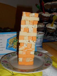 Board Game Food: Cheese Jenga