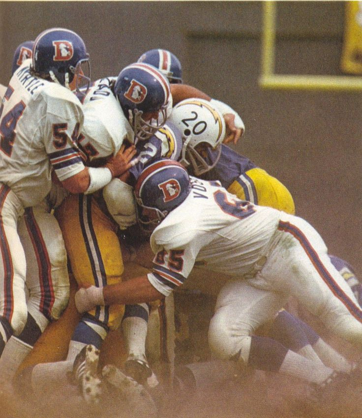 Broncos stack up a Charger.