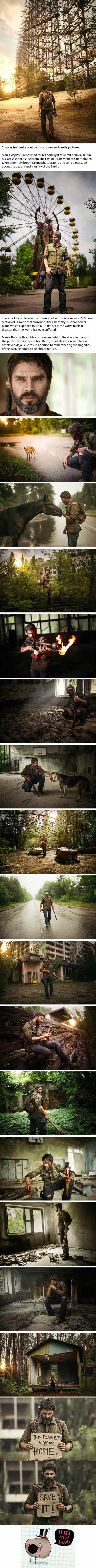 "This ""The Last of Us"" Cosplay In Chernobyl Conveys An Important Massage"